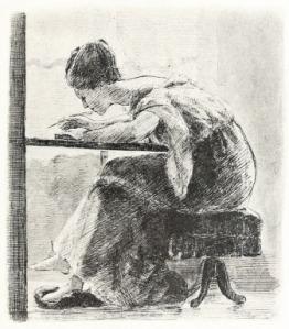 femme qui ecrit