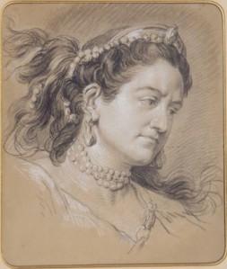 paris_comedie_vanloo_Carle Vanloo, Portrait de Mademoiselle Clairon en Médée, sans date (artiste du XVIIIe siècle), musée de la Comédie Française