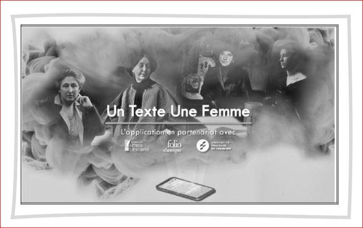 Un Texte Une Femme : «Pleins feux sur les autrices» !