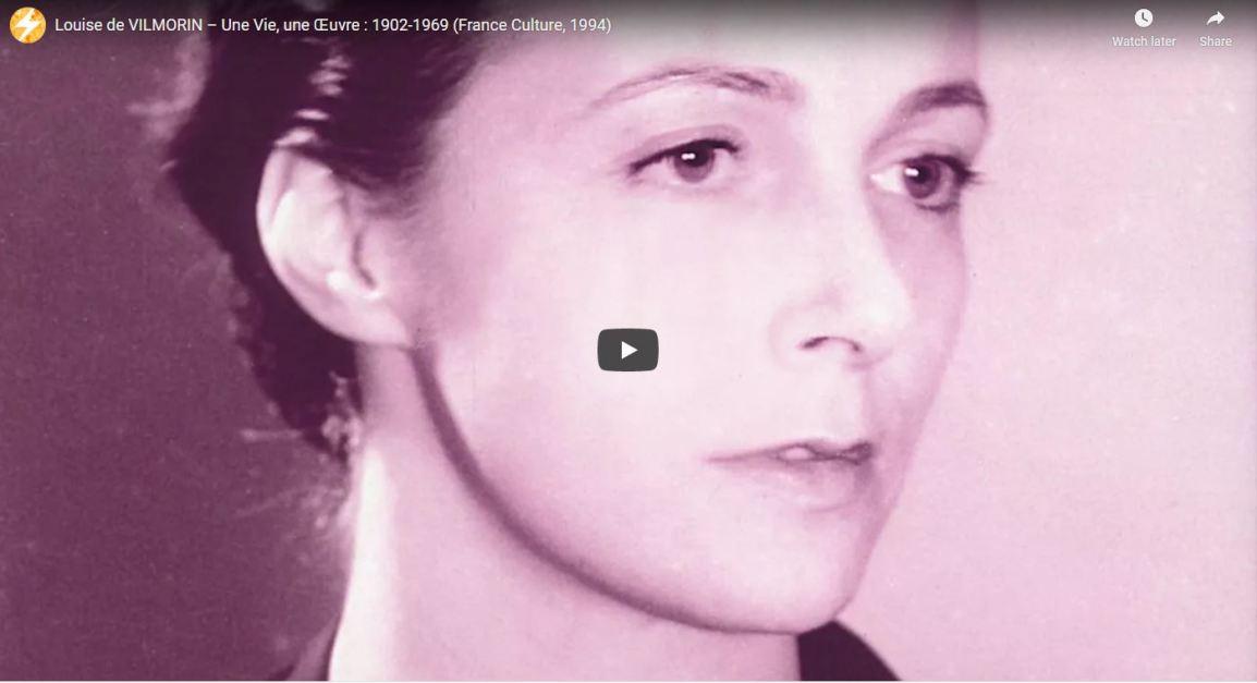 Louise de Vilmorin, une vie, une oeuvre sur FranceCulture