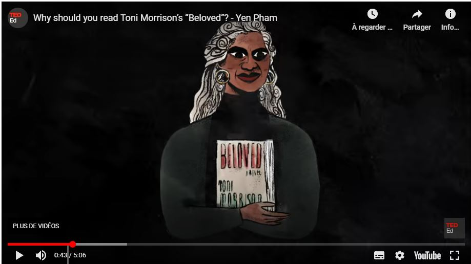 "Why should you read Toni Morrison's ""Beloved""? Yen Pham et Héloïse Dorsan Rachet"